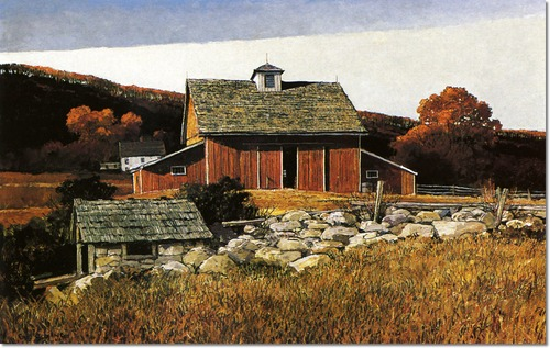 Eric Sloane The Barn Painting
