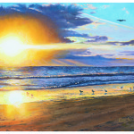 Eric Soller Fine Art Melbourne Sunrise Oil Painting