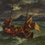 Eugene Delacroix Christ The Sea Galilee Walters Painting Anysize