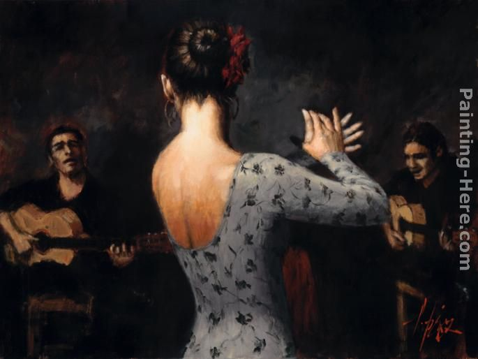 Fabian Perez Tablao Flamenco Dancer Painting Anysize Off