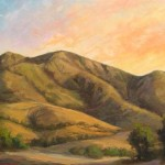 Face Mountain Sits South The Freeway Agoura This Painting
