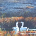 Famous Acrylic Painted Pheasant Couples Portrait Painting