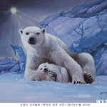Famous Acrylic Painted Polar Bear Pet Portrait Painting