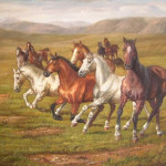 Famous Artist Paintings Reproduction Abstract Horse Painting