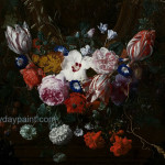 Famous Flower Paintings Flowers Beneath Cartouche