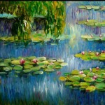 Famous Monet Water Lilies Painting Reproduction