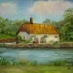Farm Paintings House River Forest