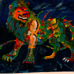 Fauvism Tarrasque Maelthra Chath Traditional Art Paintings Fantasy