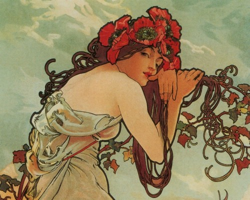 Featured Artist Alphonse Mucha The Heart Art