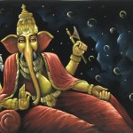 Featured Here Contemporary Painting Done Hand Lord Ganesha