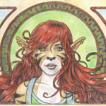 Felicity Art Nouveau Watercolor Painting Ssava Deviantart