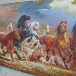 Feng Shui Victory Horses Oil Painting For Sale From Selangor Cheras