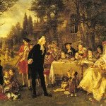 Festive Gathering German Art Image