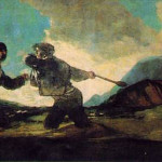 Fight Cudgels Francisco Goya Paintings Art Picture
