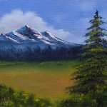 Fine Art Oil Paintings Distant Mountains Arts Gallery
