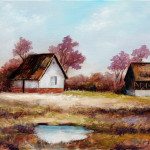 Fine Art Oil Paintings Old Farm Houses Arts Gallery