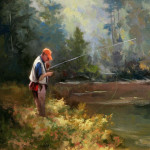 Fine Art Sport Stream Fly Fishing Painting
