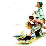 Fishing Norman Rockwell Wikipaintings