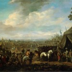 Flemish Town Sieged The Spanish Soldiers Painting Lingelbach