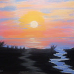 Florida Sunrise Acrylic Painting Art Manfred