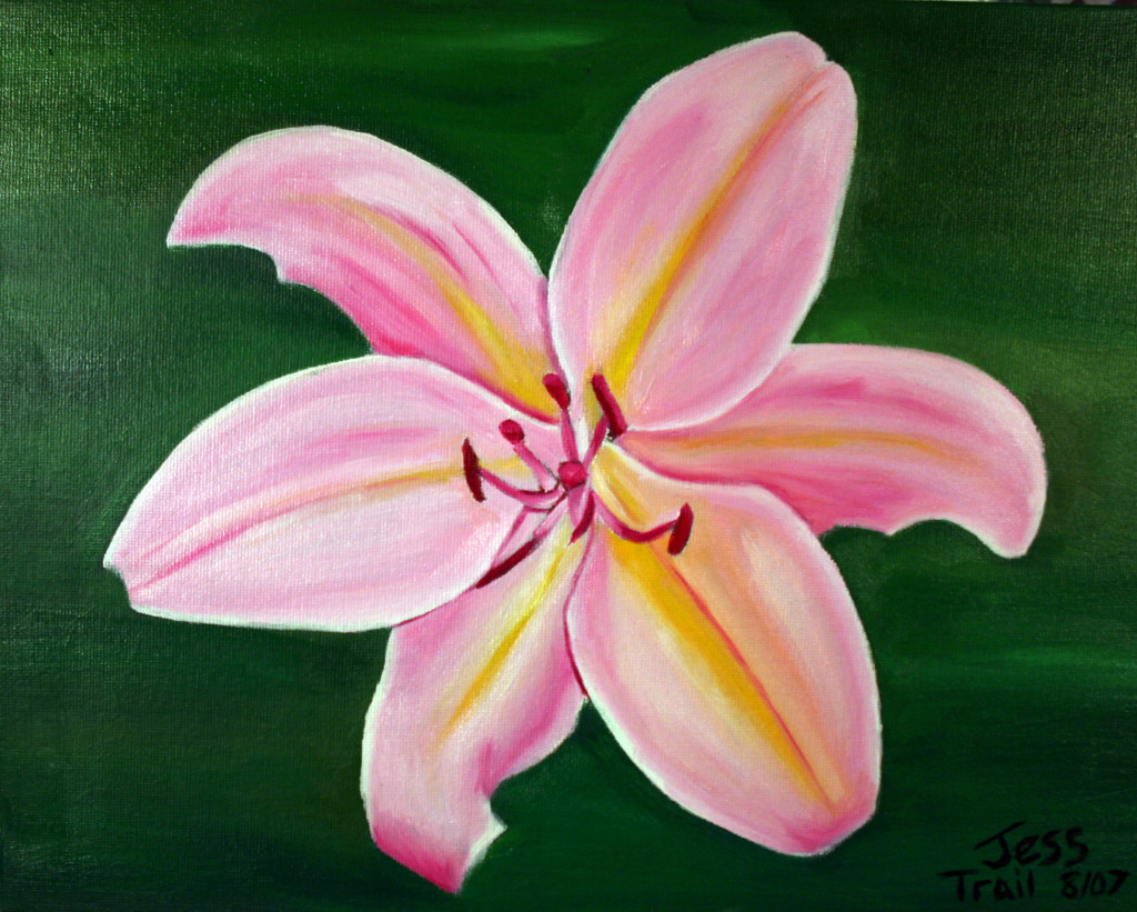 Flower Art Oil Paintings And Drawings Trail Crafts Blog