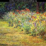 Flower Border Reproduction Most Famous Paintings Large