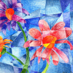 Flower Cubism Sapphirepixie Traditional Art Drawings Still Life
