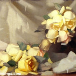 Flower Oil Painting Yellow Roses