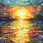 For Sale Large Sunset Oil Painting Canvas