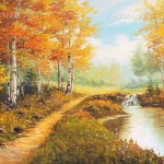 Forest Scenery Decorative Oil Painting White Birch