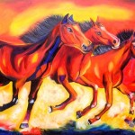 Four Horses Paintings For Sell Collectibles Rohini Sector
