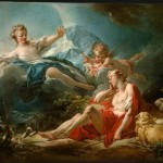 Fragonard Oil Paintings Diana And Endymion Painting