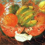 Framed Frida Kahlo Fruit Life Painting Anysize Off