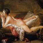 Francois Boucher Odalisque Blonde Painting