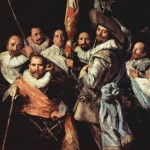 Frans Hals Detail Painting Officers And Sergeants The