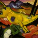 Franz Marc Yellow Cow Painting Anysize Off