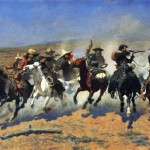 Frederic Remington Dash For The Timber Painting