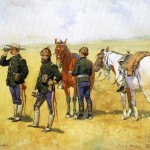 Frederic Remington Painting The Scouting Party