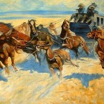 Frederic Remington Paintings Downing The Night