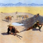 Frederic Remington Paintings Fight For The Water