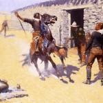 Frederic Remington Paintings The Apaches Painting