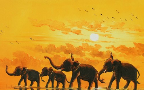 Free Elephant Art Paintings