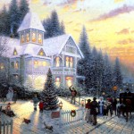 Free Holiday Christmas Eve Painting