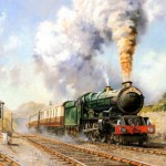 Free Picture Art Railroad Oil Painting Train Journeys