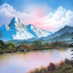 Free Pictures Art Bob Ross Landscape Oil Painting