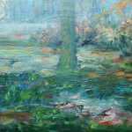 French Impressionist Oil Painting Signed Large Vibrant Landscape