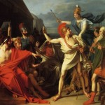 French Neoclassical Painting Scene From Book The Iliad