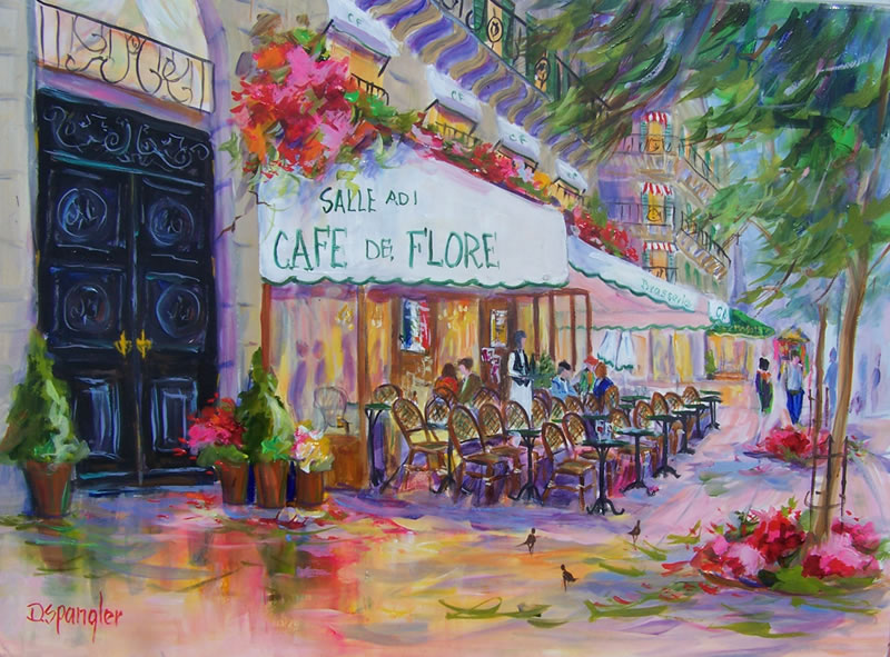 French Paintings Cafe Flore