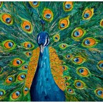 From Canvas Proud Peacock Acrylic Painting