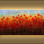 Full Bloom Abstract Art Original Modern Paintings For Sale Flowers